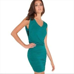 *3/$25* GUESS Soft Fitted Tank V Neck Draped Mini Dress Teal